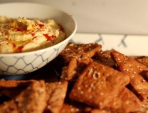 Hummus, Fennel Pita Chips, Donna Hay