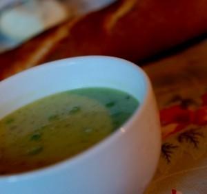 Spring pea soup, pea soup