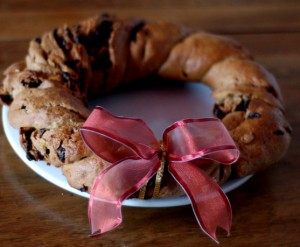christmas wreath bread, food and wine, food and drink, food blog