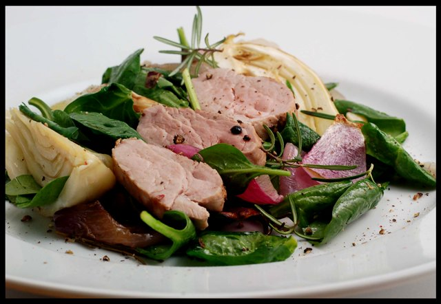 delightful dish of roasted Pork Tenderloin and fennel scented with ...