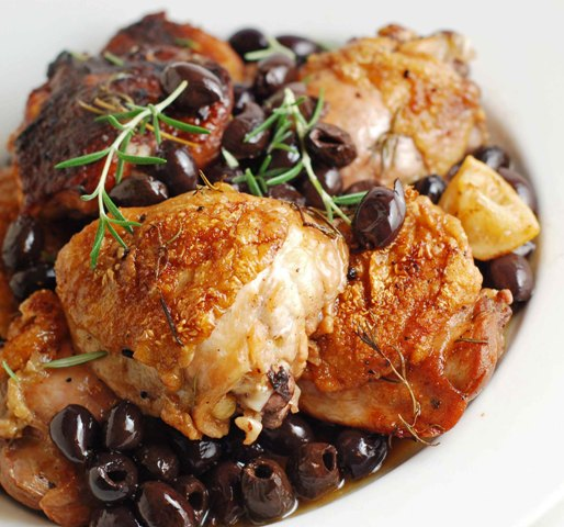 Meyer Lemon Chicken With Baby Potatoes And Castelvetrano Olives Recipe ...