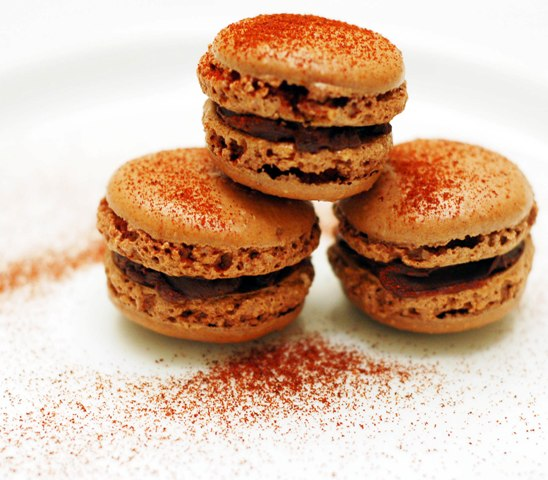 Macarons with chili powder 1009