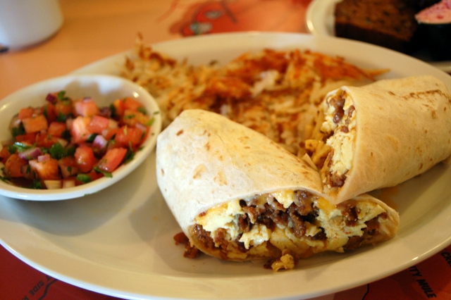 Killer burrito with salsa Furance Creek