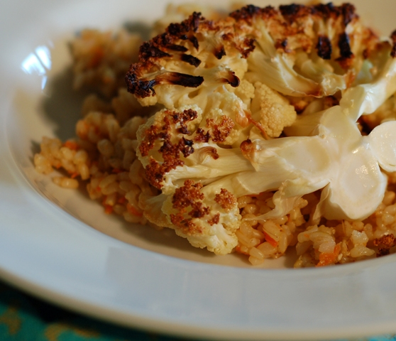 Baharat Scented Rice with Roasted Cauliflower 0110
