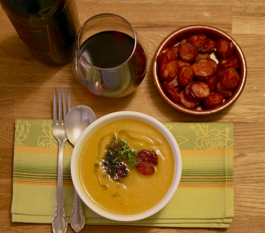 Butternut squash soup with chorizo 0310