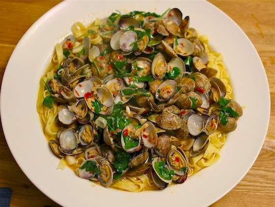 Spicy Clams with Pasta 0310