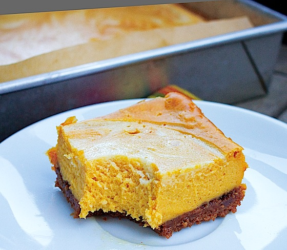 Pumpkin Cheesecake Bars Recipe Images & Pictures - Becuo